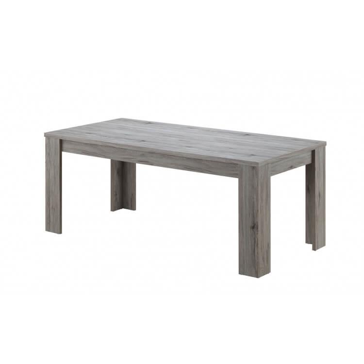 Table de salle manger contemporaine rectangulaire chêne rustique Maggie