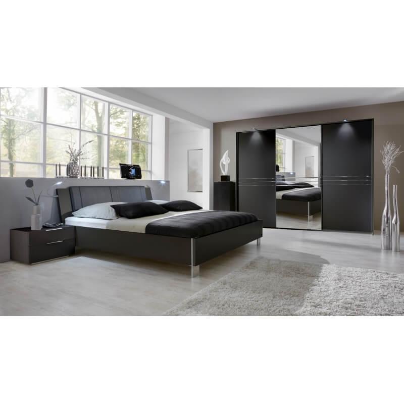 chambre adulte design avec clairage coloris lave davina matelpro. Black Bedroom Furniture Sets. Home Design Ideas