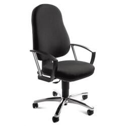 Chaise de bureau contemporaine en tissu noir Bari