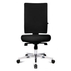 Chaise de bureau design en tissu noir Adisson