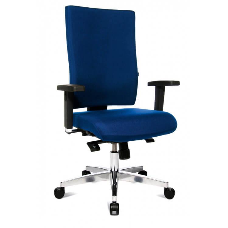 Chaise de bureau design en tissu bleu Adisson
