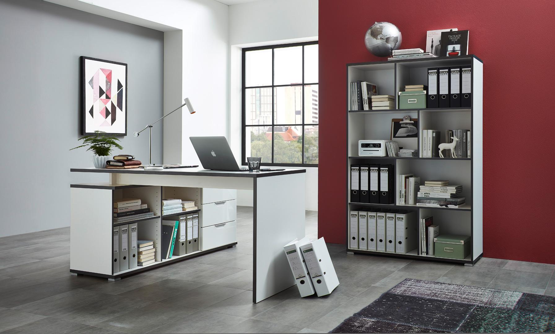 etag re de bureau contemporaine coloris blanc mayotte matelpro. Black Bedroom Furniture Sets. Home Design Ideas