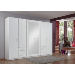 Armoire adulte contemporaine 270 cm blanche Gloria