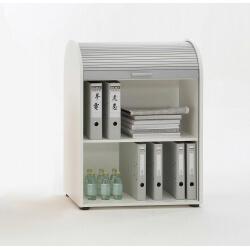 Meuble de rangement de bureau coloris blanc Belma