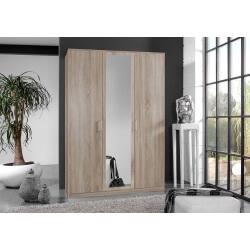 Armoire contemporaine 3 portes coloris chêne Carola