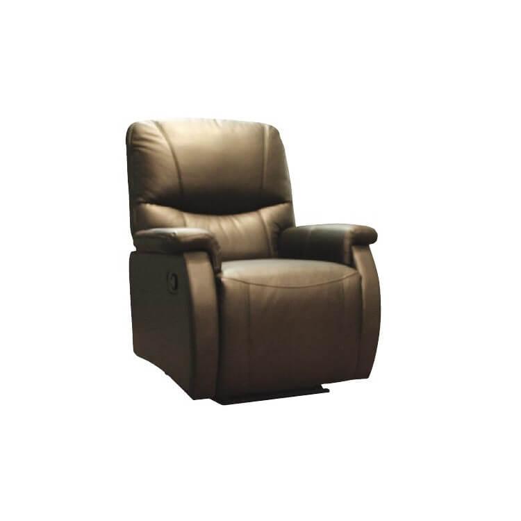 Fauteuil de relaxation cuir semi-automatique avec repose-pieds intégré TOSCANE