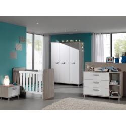 Chambre bébé contemporaine coloris grège/blanc Violine
