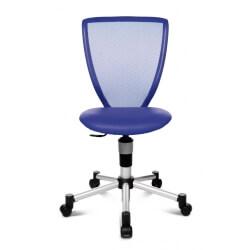 Chaise de bureau enfant design en tissu bleu Omega