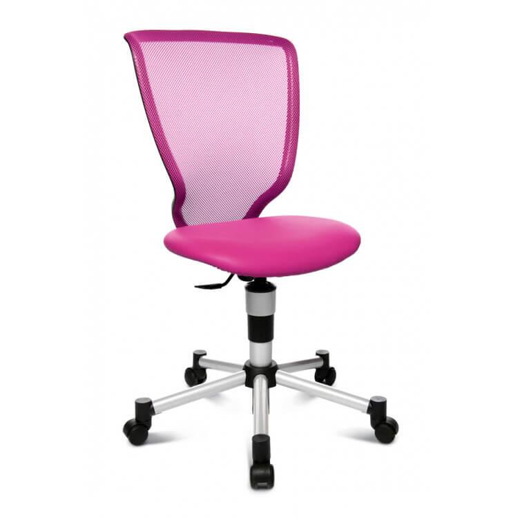 Chaise De Bureau Enfant Design En Tissu Rose Omega
