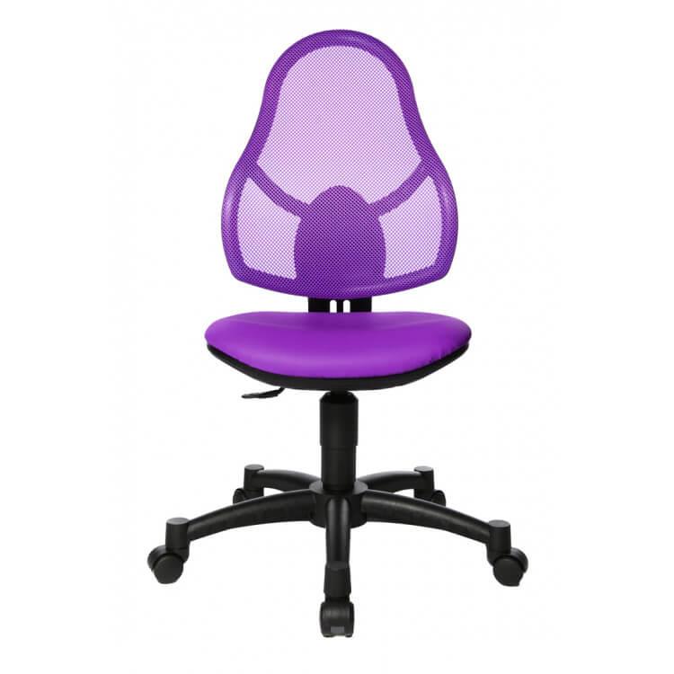 Chaise De Bureau Enfant Design En Tissu Violet Mischa