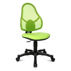 Chaise de bureau enfant design en tissu vert Mischa