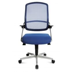 Chaise de bureau design en tissu bleu Isaak