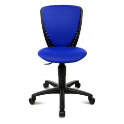 Chaise de bureau enfant design en tissu bleu Preston