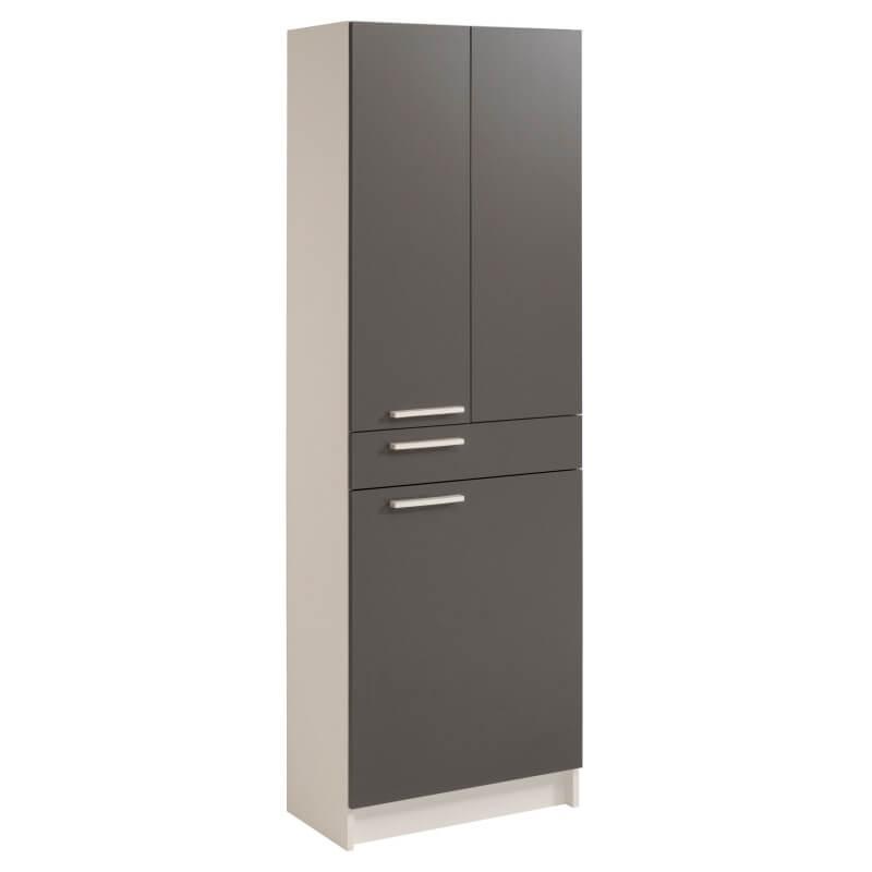 Meuble de rangement de salle de bain blanc gris ombre angelus ii matelpro - Meuble de rangement gris ...