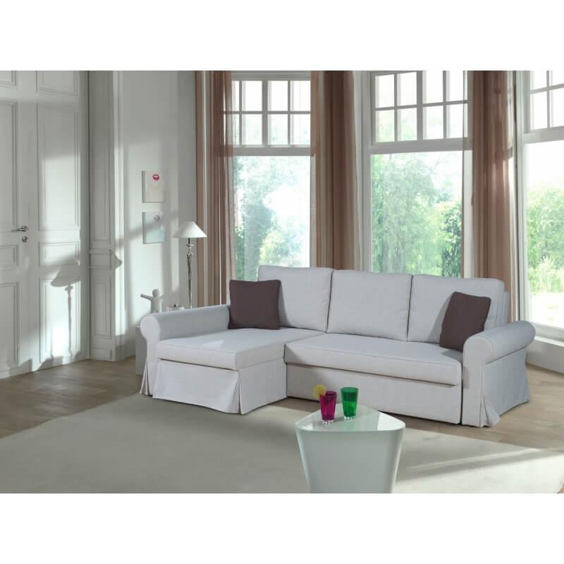 canap d 39 angle r versible convertible contemporain en tissu beige rabelais matelpro. Black Bedroom Furniture Sets. Home Design Ideas