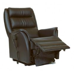 Fauteuil relaxation 100 % cuir électrique releveur repose-pieds intégré GRANNA