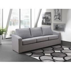 Canapé fixe 3 places contemporain en tissu gris Minerval