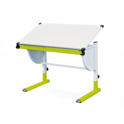 Bureau enfant contemporain inclinable blanc/vert Tetris