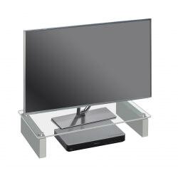 Surmeuble design pour téléviseur en verre clair Madera