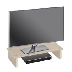 Surmeuble design pour téléviseur en verre sable Madera