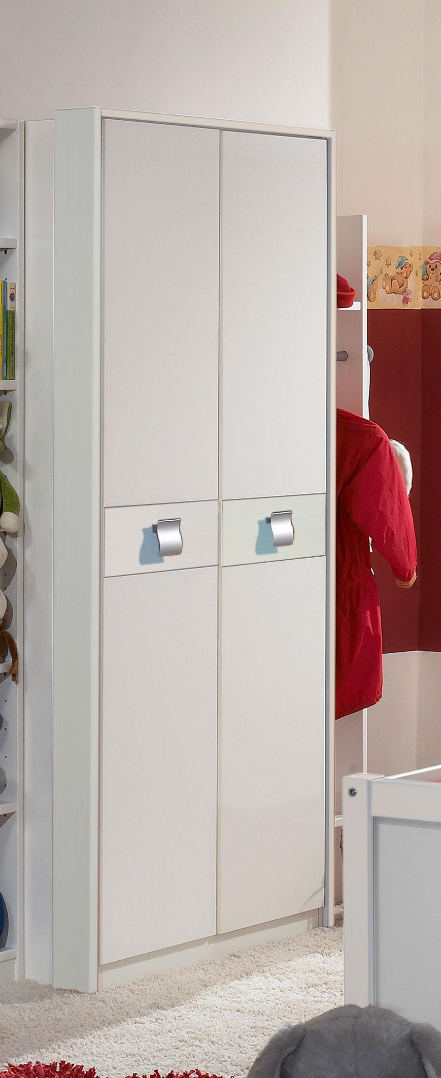 Armoire enfant contemporaine blanche 2 portes Alouette
