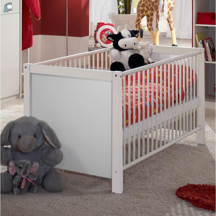 Lit bébé à barreaux contemporain blanc Alouette