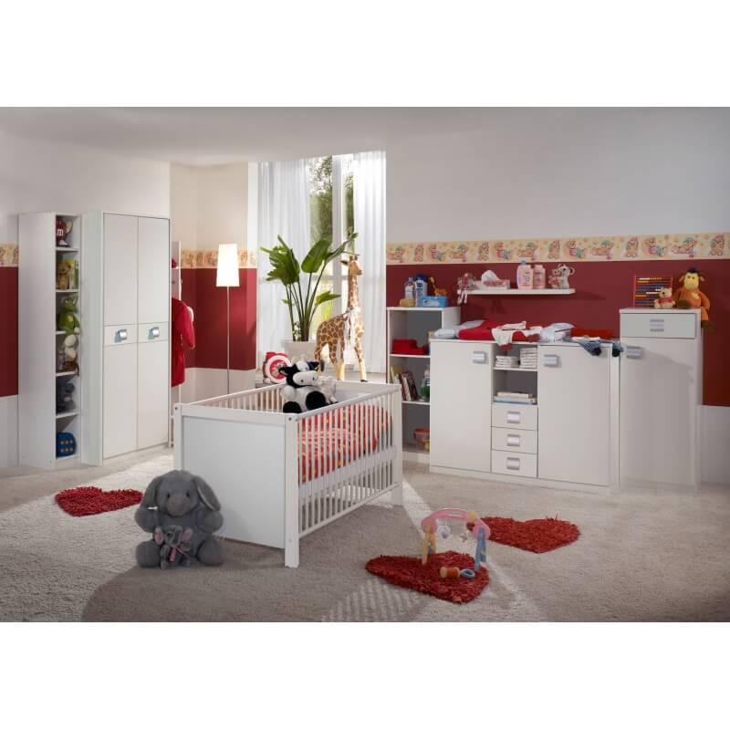 chambre b b contemporaine blanche alouette matelpro. Black Bedroom Furniture Sets. Home Design Ideas