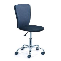 Chaise de bureau enfant design en tissu noir et gris Theodore