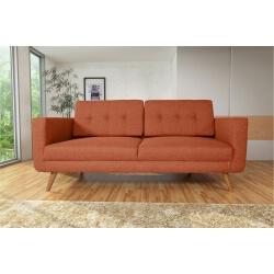 Canapé fixe 3 places contemporain en tissu orange Tebessa