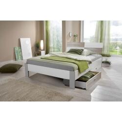 Lit enfant contemporain avec tiroir-lit blanc/chêne Ingrid