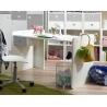 Bureau enfant contemporain blanc/béton Constance