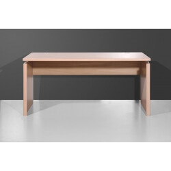 Bureau contemporain coloris noyer clair 160 cm Arlington