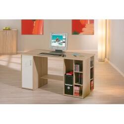 Bureau contemporain coloris chêne sonoma Armel