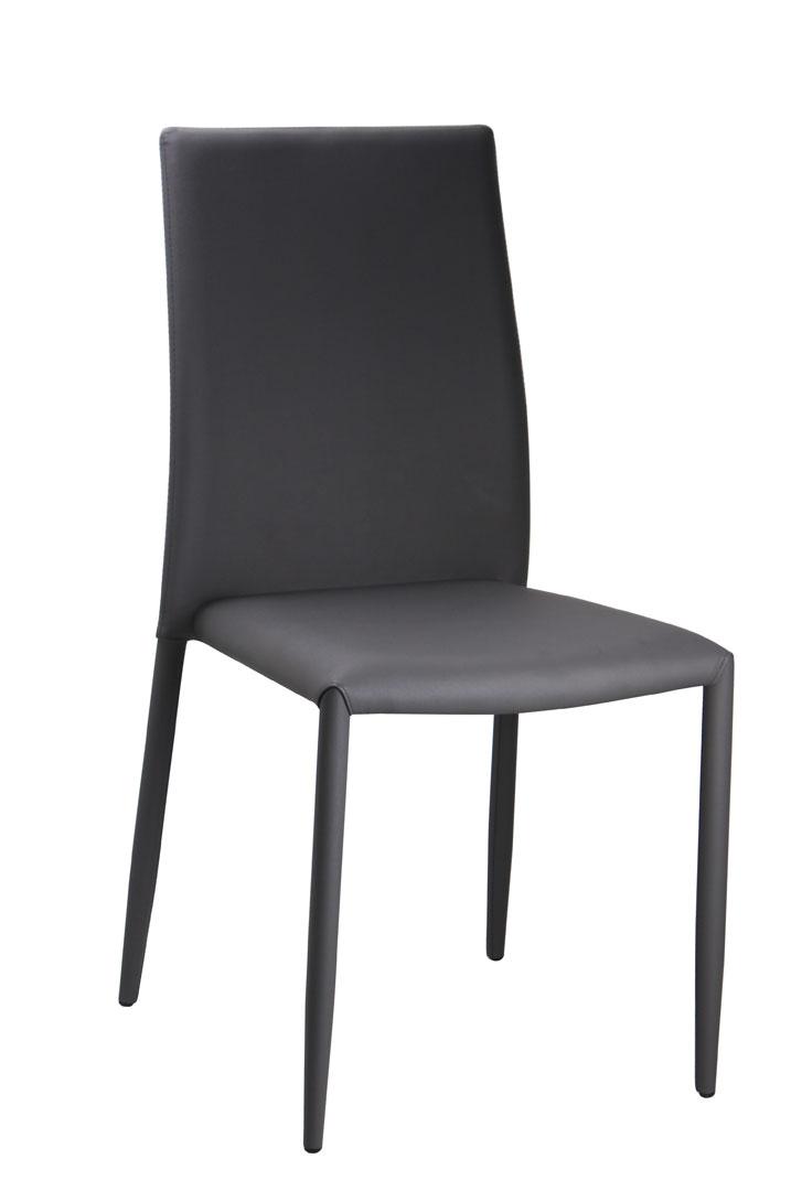 Chaise de salle à manger design en PU taupe (lot de 6) Laurence