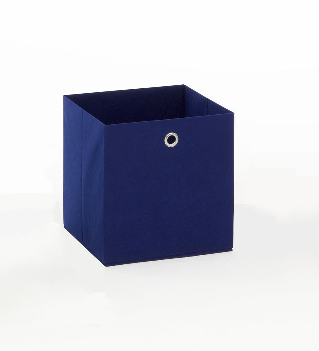 Panier de rangement en tissu bleu Gama II