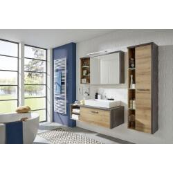Ensemble de salle de bain contemporain coloris chêne/béton Hilton