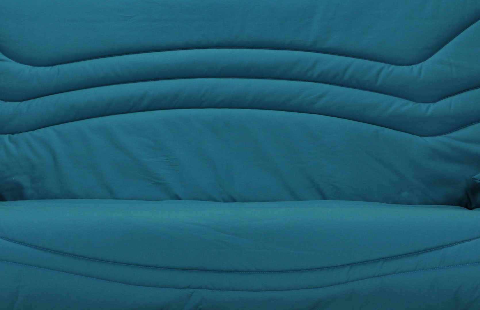 Housse BZ & 2 housses de coussin coloris bleu canard Boris | Matelpro
