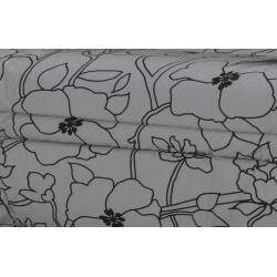 Housse BZ & 2 housses de coussin coloris gris/imprimé noir Soleane