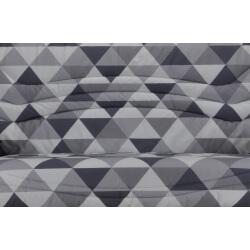 Housse BZ & 2 housses de coussin imprimés géométriques Nadège