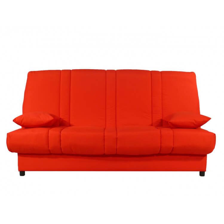 Canapé clic-clac contemporain coloris rouge uni Vista
