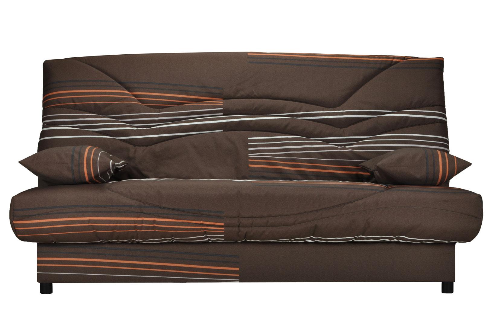 Canapé clic-clac contemporain coloris brun/imprimé Oliver