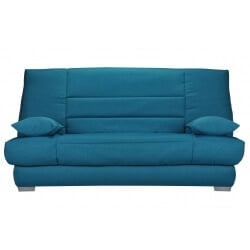 Canapé clic-clac contemporain coloris bleu canard Boris