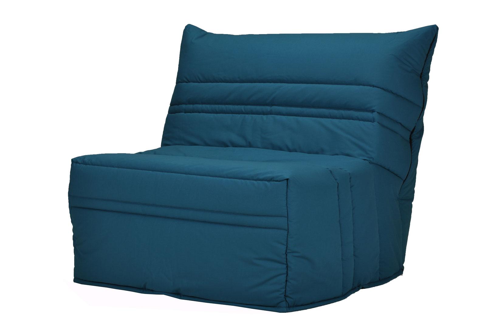 banquette bz contemporaine 90 cm coloris bleu canard boris | matelpro