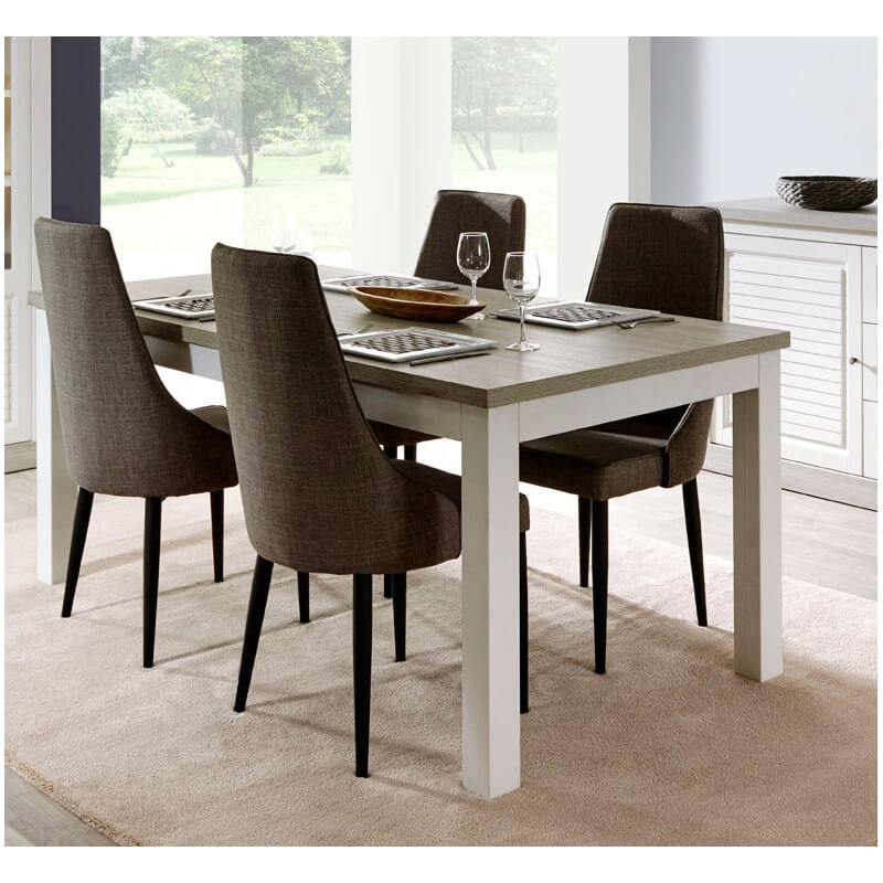 table de salle manger contemporaine coloris ch ne clair porcelaine angelo. Black Bedroom Furniture Sets. Home Design Ideas