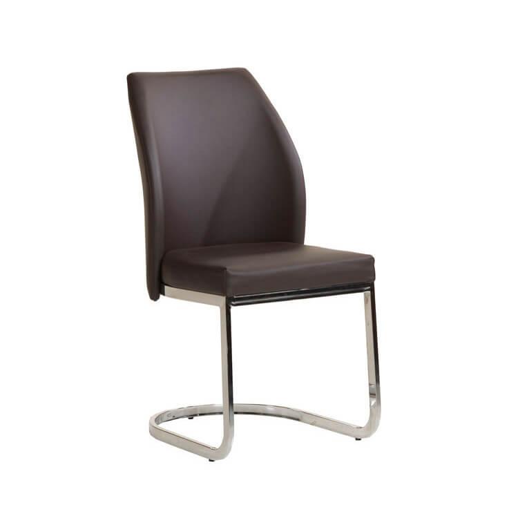 Chaise de salle à manger design en PU noir (lot de 2) Abysse