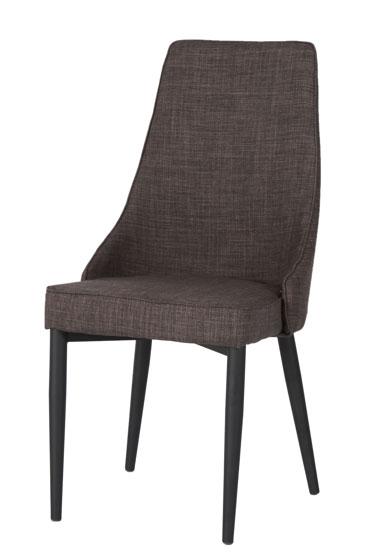 Chaise de salle à manger design en tissu coloris bronze (lot de 2) Andore