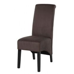 Chaise de salle à manger contemporaine en tissu gris foncé (lot de 2) Melisse