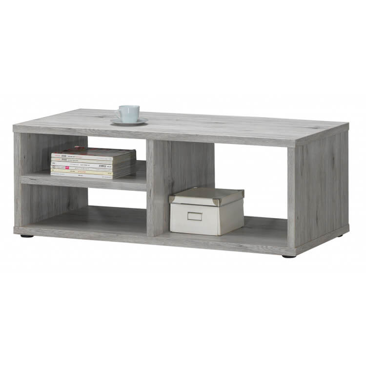 Table basse contemporaine coloris chêne rustique Avril