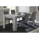 Table de salle à manger contemporaine coloris chêne rustique Avril