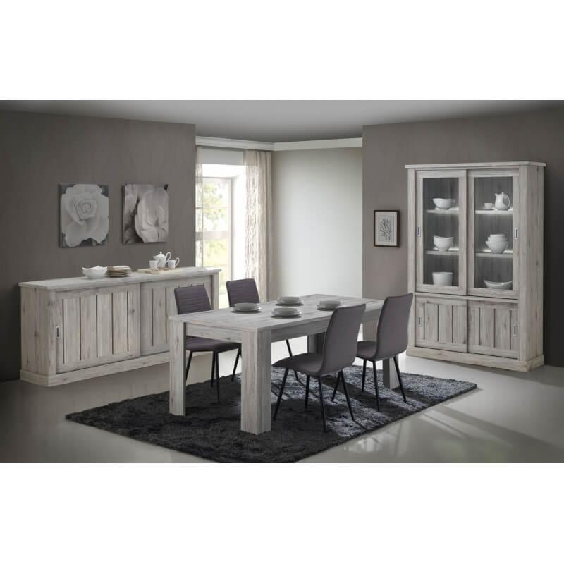 vaisselier argentier contemporain avec clairage coloris. Black Bedroom Furniture Sets. Home Design Ideas